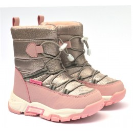Термоботинки Tom M 9373d Pink, зимние детские сапоги на девочку