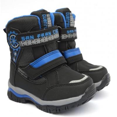 Термоботинки Tom M 3983e Black, зимние детские сапоги на мальчика