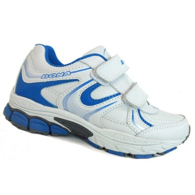 Кроссовки BONA 670Z серо-голубые