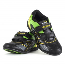 Кроссовки BONA 746D Black/Green