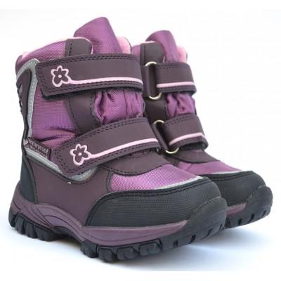 Термоботинки Tom M 3659e Purple, зимние детские сапоги на девочку