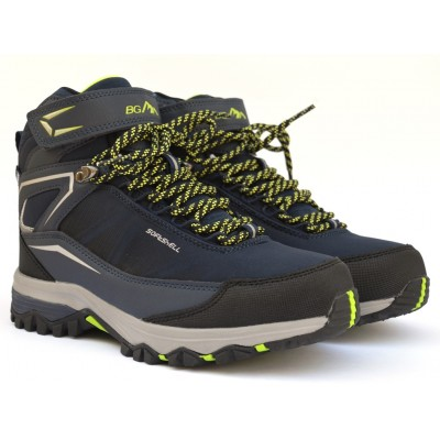 Термоботинки B&G EVS21-19/0315 синие, ботинки на мембране