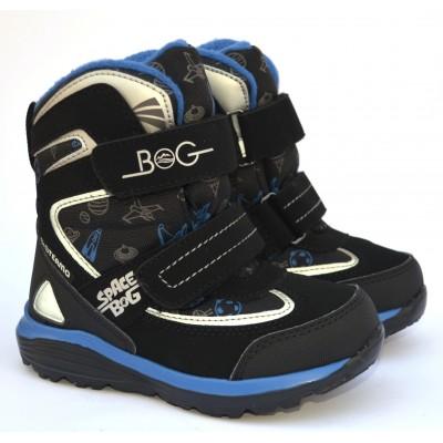 Термоботинки B&G HL197-910 черно-синий, сапоги на мембране