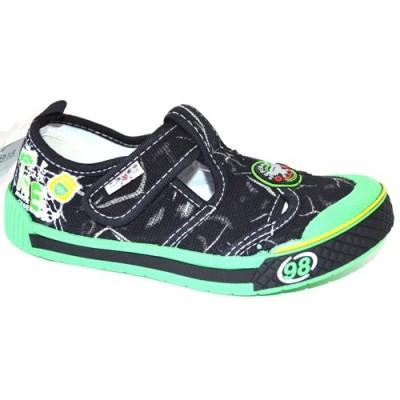 Мокасины SUPER GEAR A9918 black/green