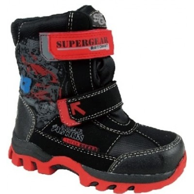 Термоботинки SUPER GEAR B195 black/red