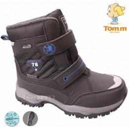 Термоботинки Tom M 5073a Black, зимние детские сапоги на мальчика