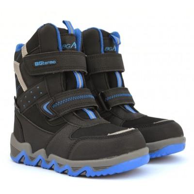 Термоботинки B&G EVS21-4/0408 черно-синий, сапоги на мембране