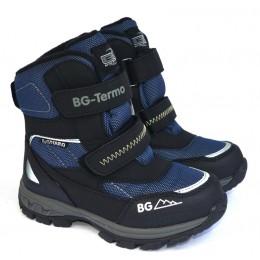 Термоботинки B&G HL209-805 черно-синий, сапоги на мембране