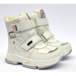 Термоботинки Tom M 9381f White, зимние детские сапоги на девочку