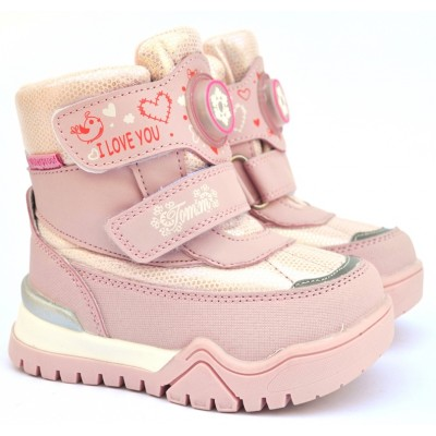 Термоботинки Tom M 7677m Pink, зимние детские сапоги на девочку