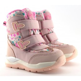 Термоботинки Tom M 5820a Pink, зимние детские сапоги на девочку