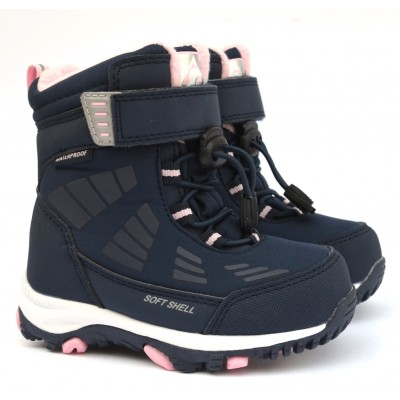 Термоботинки B&G TKT-6/0312 сине-розовые, сапоги на мембране. Легкие