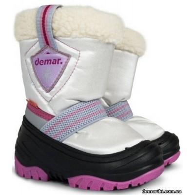 Сапоги Demar TOBY b (бело-розовые)